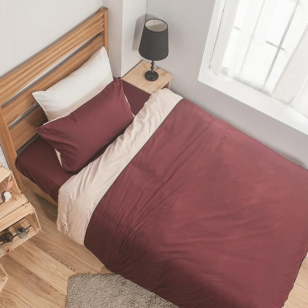 床包被套組 / 雙人【簡單生活-深系列-多色可選】含兩件枕套 100%精梳棉 戀家小舖台灣製AAA212