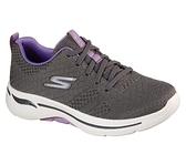 Skechers Go Walk Arch Fit [124403GYLV] 女鞋 運動 休閒 步行 健走 避震 灰 紫