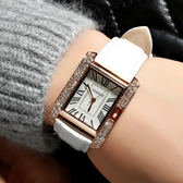 手錶韓版女學生手錶方形簡約女錶皮帶錶防水石英錶時尚潮流腕錶女 喵小姐