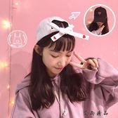 韓版鴨舌帽愛心蝴蝶結棒球帽