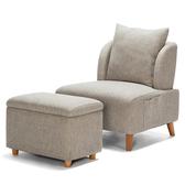 單人小沙發椅日式簡約現代客廳臥室陽臺躺椅布藝拆洗酒店懶人沙發 叮噹百貨