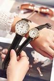 手錶 老人手表男中年女防水父母親媽媽大數字刻度皮帶中老年電子石英表 歐歐