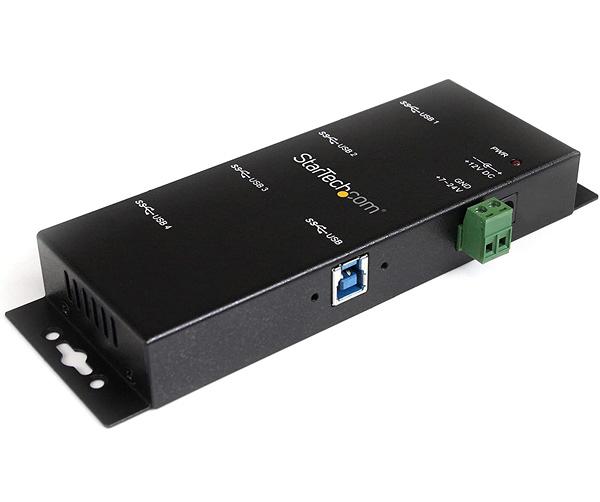 [2美國直購] 集線器 StarTech.com ST4300USBM 4-Port USB 3.0 Hub – Industrial USB Expansion Hub with ESD Protection