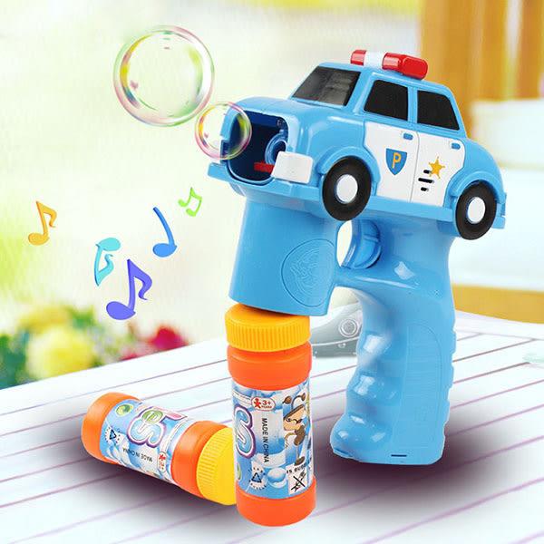 【888便利購】警察車造型連續式電動泡泡槍(有LED燈+音樂)