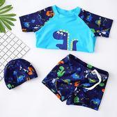 兒童泳衣男童分體泳褲套裝中大童卡通泳裝