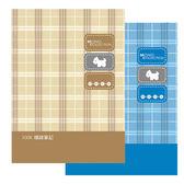 美加美Mono 100K 80 入布格紋膠皮筆記米AM1444 藍AM1445 3 本包