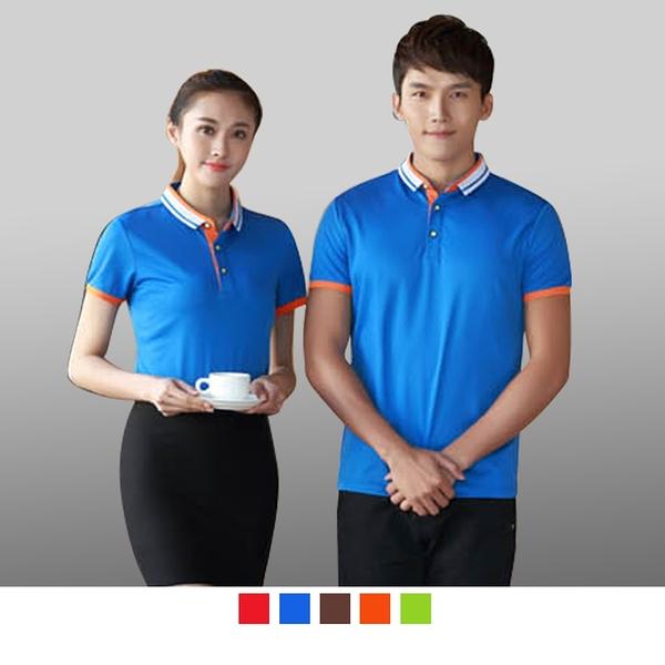 晶輝專業團體制服CH173*配色網眼吸溼排汗快乾短袖POLO衫