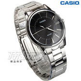 CASIO卡西歐 MTP-1303D-1A 城市經典紳士指針錶 男錶 學生錶 防水手錶 不銹鋼 黑 MTP-1303D-1AVDF