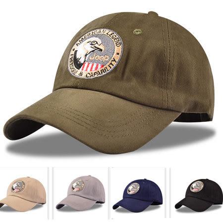 ※現貨 歐美老鷹刺繡純棉棒球帽 加長帽簷運動帽 運動遮陽帽 5色【E297483】