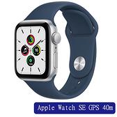 Apple Watch SE GPS 40m鋁銀金屬殼搭運動型錶帶(深邃藍/星光/黑)【愛買】
