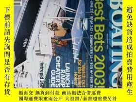 二手書博民逛書店Boating罕見Magazine 2002 11划船輪船水艇外