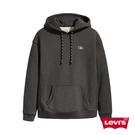 Levis 男款 頂級重磅口袋帽T / 簡約刺繡Logo / 600GSM厚棉 / 碳石灰