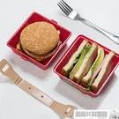 便當盒 日式三明治便當盒漢堡收納盒面包保鮮盒子密封盒學生便攜帶蓋飯盒 風尚