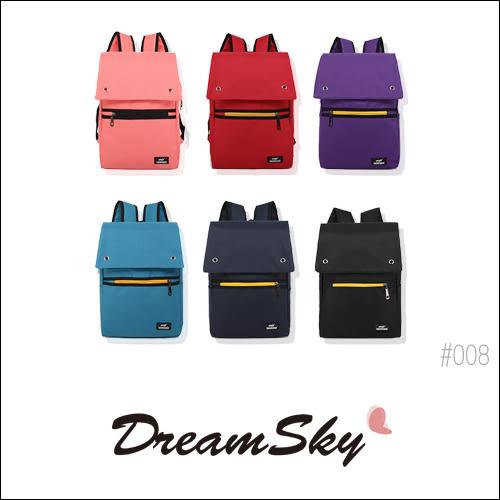 帆布 休閒 後背包 潮流學院風 雙肩包 旅行包 書包 運動包 大容量 收納 多色 [008] DreamSky