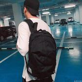 休閒帆布雙肩包韓版男士學院風書包旅行包情侶包潮包     非凡小鋪