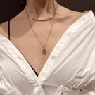 限定款鎖骨鍊 正韓簡約雙層項鍊女網紅脖子...