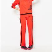 TOP GIRL- 獨特網格印花- 吸濕排汗休閒針織長褲 -紅