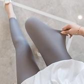 冰絲打底褲女薄款夏季九分褲七分褲7分彈力高腰格紋大碼緊身褲 快速出貨