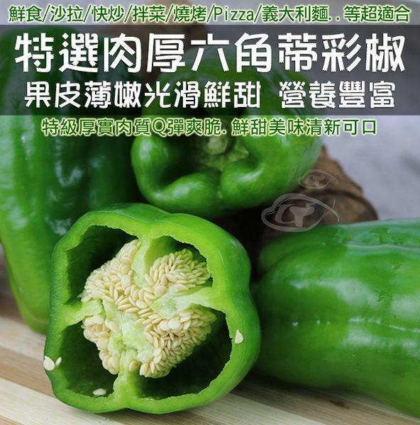 鮮採家 特選新鮮翠綠爽脆六角蒂青椒3台斤(1.8KG)
