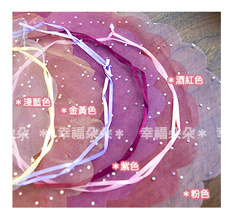 【亮片圓型束口雪紗袋(外徑30cm,內徑20cm)】禮物包裝/糖果袋/送客/來店禮/幸福朵朵