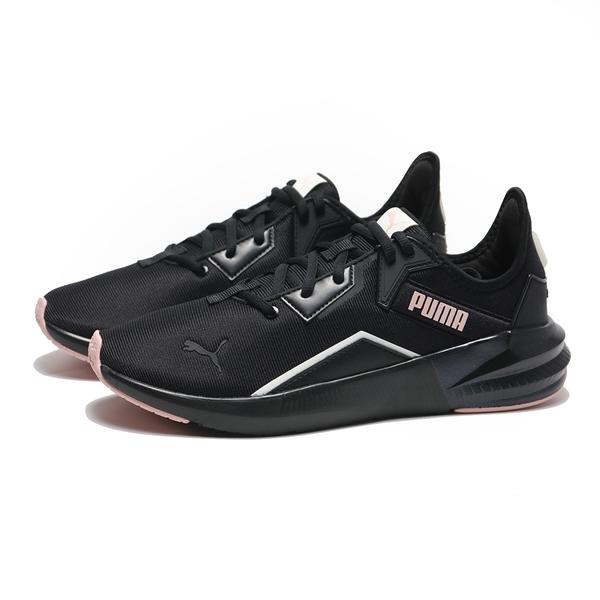 PUMA 慢跑鞋 PLATINUM SHIMMER 黑 黑粉 網布 運動 女(布魯克林) 19377203