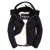 【蟹老闆】SUPERDRY 經典基本款 內刷毛 男版有帽 防風防潑水機能性風衣外套 黑白