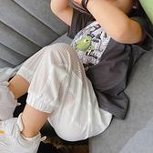 兒童冰絲透氣運動褲夏季薄款男女童寶寶長褲新款網眼涼涼空調褲子 幸福第一站