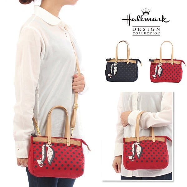 Hallmark & Kitty 聯名 新款防水 2way 側背包/手提包/斜背包 該該貝比日本精品 ☆