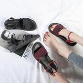 平底涼鞋原宿風涼鞋女夏平底2018韓版百搭港風學生chic復古羅馬涼鞋女 貝芙莉女鞋