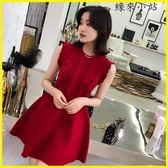 晚禮服 紅裙子小禮服短款紅色連身裙
