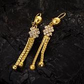 耳環 純銀鍍18K金鑲鑽-氣質個性生日情人節禮物女飾品73cx53【時尚巴黎】