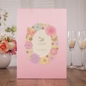 歐式婚禮簽到本西式簽名本結婚簽到簿嘉賓禮薄婚簽名冊粉色白色  熊熊物語