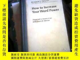 二手書博民逛書店READER S罕見DIGEST: How to Increas