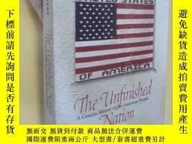 二手書博民逛書店英文原版罕見The Unfinished Nation: A Concise History of the Ame