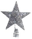 節慶王【X010701】9cm樹頂星(銀...