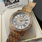 ANNE KLEIN安妮克萊恩女錶34mm白色錶面金銀相間錶帶