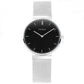 【台南 時代鐘錶 TAYROC】英國簡約現代風 RAI 米蘭帶時尚腕錶 TY139 黑/銀 40mm
