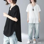 棉麻短袖 顯瘦休閒棉麻韓版短袖圓領t恤衫 coco衣巷