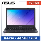 【11月限時促】 ASUS E210MA-0041BN4020 11.6吋 入門輕巧 小筆電 (N4020/4GDR4/64G/W10HS)