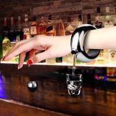 【新年鉅惠】304不銹鋼手環酒壺便攜隨身壺創意小酒壺100ml戶外水壺金屬酒瓶