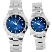 【台南 時代鐘錶 SIGMA】簡約時尚 藍寶石鏡面情人對錶 3801MS-13 3801M-13 藍/銀 平價實惠的好選擇