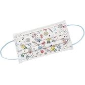 小禮堂 Hello Kitty 成人不織布口罩組 平面口罩 防護口罩 拋棄式口罩 (30入 白 塗鴉) 4712977-46752