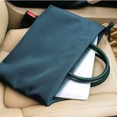 筆電包簡約商務手提包男女公文包13.3寸14寸15.6寸筆記本電腦包文件袋星河