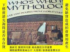 二手書博民逛書店the罕見illustrated whos who in mythologyY14530 出版1985