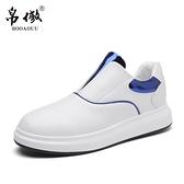 夏季新款運動休閒鞋子 男士板鞋韓版潮流百搭一腳蹬懶人鞋男 米娜小鋪