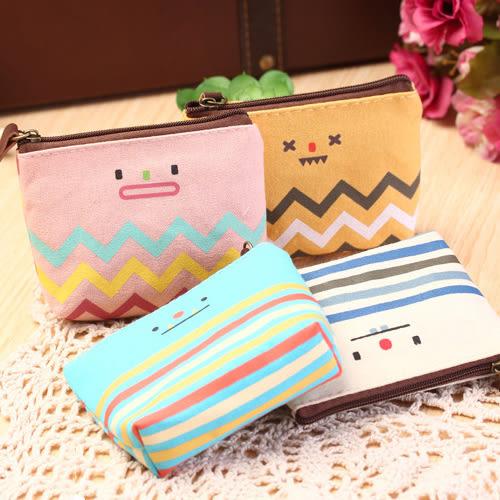 零錢包 可愛 笑臉 圖案 零錢包 收納包 短夾【YL0252】 icoca  06/01