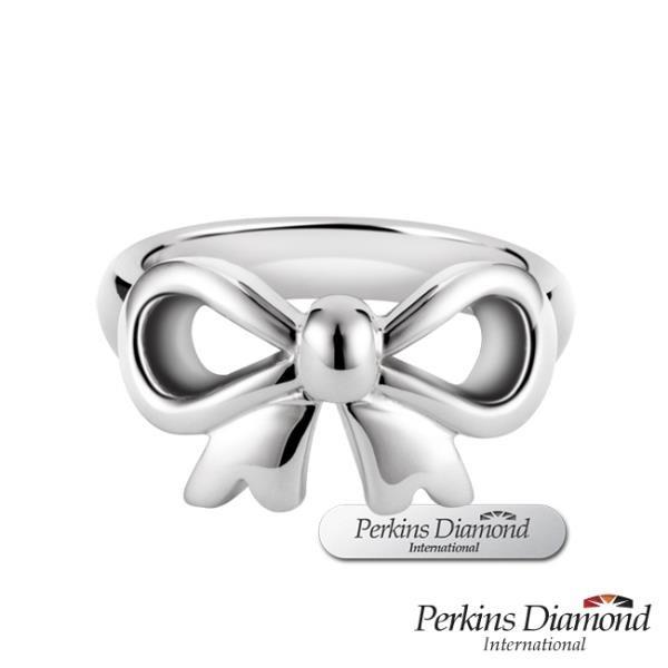 【南紡購物中心】925純銀戒指 PERKINS 伯金仕 bowknot系列