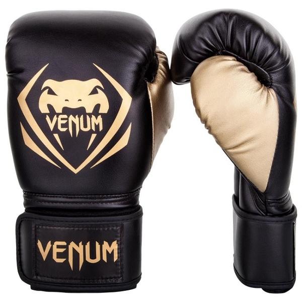 『VENUM旗艦館』16oz VENUM Contender~競爭者拳擊手套~VENUM高CP拳套 黑金1109126