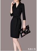 2020秋季大碼女裝工作服小黑裙OL包臀連身裙韓版氣質職業裙裝CL716【毛菇小象】