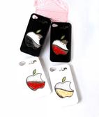 ☆Deluxe☆時尚新潮~蘋果咬一口造型水晶iPhone4/4s專用手機殼★二色